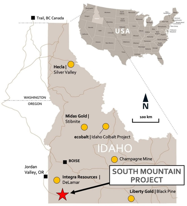 NI 43-101 Mineral Resource Statement for the South Mountain Project - April 1, 2019